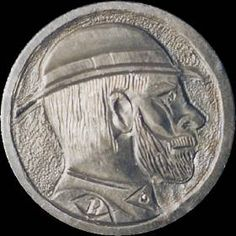 Michael Branham - Bearded Man Wearing Derby - Coin: ND AG (mintmark indeterminate) Derby, Buffalo, Coins, Auction, Personalized Items, Rooms, Water Buffalo