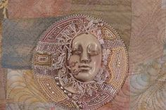 Awake To Spring by Larkin Jean Van Horn - ceramic face by Diane Briegleb