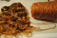 FairyWoolDolls Blog: Mohair weft tutorial