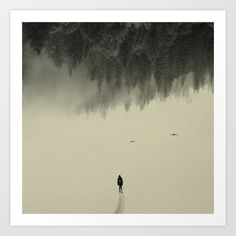 Buy Silent walk by Andreas Lie as a high quality Art Print. Worldwide shipping available at Society6.com. Just one of millions of products available.