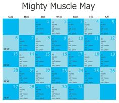 Corrected May Workout... @Kimberly Peterson Brewer