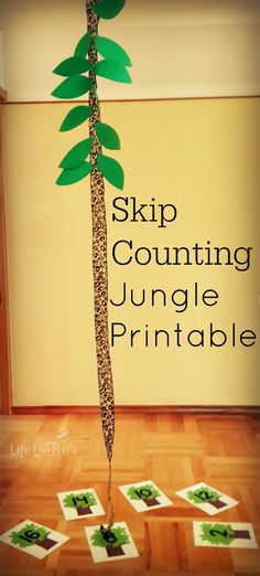 FREE Jungle Skip Counting Activity that will get your kids totally engaged while counting by 2s!