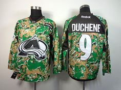 Colorado Avalanche 9 Matt DUCHENE 2013 Veterans Day Practice V-Neck Jersey - Digital Camo