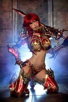 Whoa!  Crazy awesome!  Is this really Cosplay? #sexy #cosplay