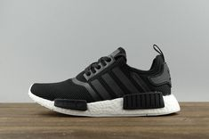 36d18e4afc4 Real Adidas Originals NMD R1 Core Black Noir Ftwr White blanc S79165 Youth  Big Boys Sneakers