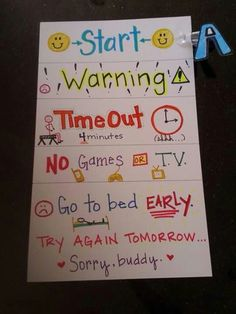 Warning time out chart