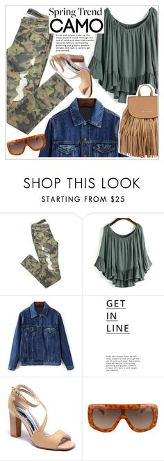 """""""Go Camo"""" by teoecar ❤ liked on Polyvore featuring Lipsy and camostyle"""