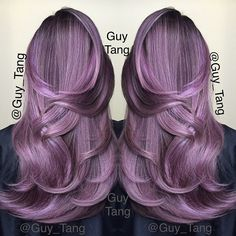 Had to post another shot! Have a great weekend! I am so happy and gonna celebrate life eating Korean BBQ Tonight!  Formula is Pravana lavender and squirted some Violet in and eyeball the tone! Enjoy! Love u guys