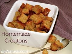 How To Make Croutons [Homemade] : This easy recipe will show you how to make croutons that are delicious, inexpensive, and healthy - don't be afraid to spice up your homemade croutons!