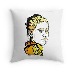 'Beatrix Potter author illustrator' Throw Pillow by ArtyMargit Brush Drawing, Canvas Prints, Art Prints, Beatrix Potter, Contemporary Art, Vibrant, Author, Entertainment, Shapes