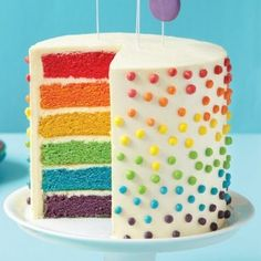 Surprise How to Make a Rainbow Layer Cake. I've always wanted to make a pretty cake like this for birthdays, haven't you?How to Make a Rainbow Layer Cake. I've always wanted to make a pretty cake like this for birthdays, haven't you? Toddler Birthday Cakes, 8th Birthday Cake, Rainbow Birthday Party, Birthday Boys, Pretty Birthday Cakes, Colorful Birthday Cake, Birthday Ideas, Birthday Desserts, Superhero Birthday Party
