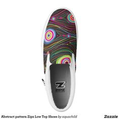 Abstract pattern Zipz Low Top Shoes Printed Shoes