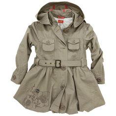 Marèse - Marron glacé coat with a removable hood