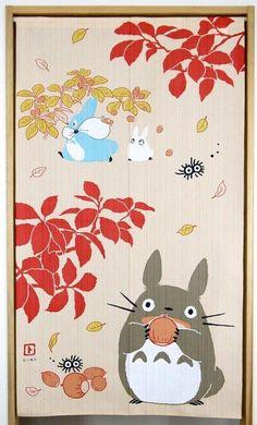 Studio Ghibli My Neighbor Totoro 2016 Autumn Noren Japanese Curtain Japan Made | eBay