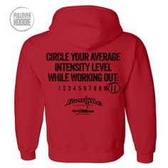 Circle Your Average Intensity Level While Working Out 11 Workout Hoodie Red