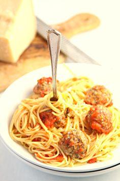 Spaghetti with Mushroom Meatballs  [SEPTEMBER FEATURED RECIPE]