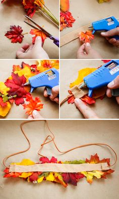 DIY Fall Leaf Crown | HelloNatural.co