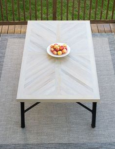 Today, I am sooooo excited to share our DIY Outdoor Dining Table Top Build! Check it out and get the building plans. Today, I am sooooo excited to share our DIY Outdoor Dining Table Top Build! Check it out and get the building plans. Diy Table Top, Diy Dining Table, Patio Dining, Outdoor Dining Tables, Patio Tables, Dining Rooms, Outdoor Living, Table Chevron, Chevron Coffee Tables