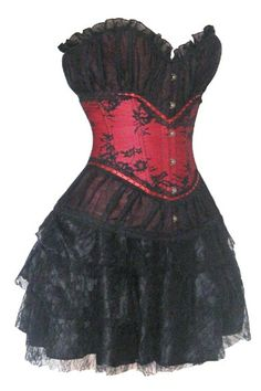 This Atomic Red and Black Vintage Style Corset & Pettiskirt Set will be the perfect addition to your Victorian-inspired style. Get it here: https://atomicjaneclothing.com/products/vintage-style-corset-pettiskirt-set