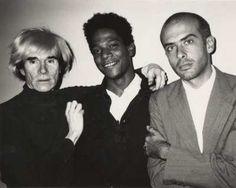 "My ""tattoo artist"" on the right! Francesco Clemente - Warhol - Jean-Michel Basquiat"