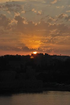 A sunset in Rhodes, Greece - submitted by Caroline