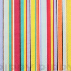 【楽天市場】ヨーロッパ製可愛い4つ折り ペーパーナプキン☆マルチストライプ☆(Colorino)(1枚/バラ売り):Pippy 楽天市場店
