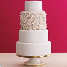 simple wedding cake - Google Search