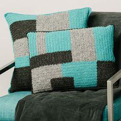 EP18676_1 Bead Crochet, Free Crochet, Crochet Hearts, Quick Crochet, Granny Square Crochet Pattern, Crochet Patterns, Crochet Granny, Knit Pillow, Knitted Pillows