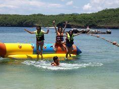banana boat ride at Punta Fuego sandy beach!!!