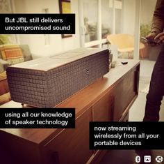 The JBL Authentic L8 and JBL Authentic L16 wireless speakers combine classic speaker design with groundbreaking wireless technology.