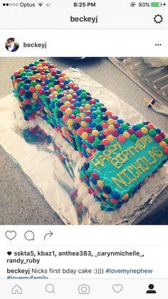 No.1 birthday cake