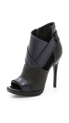 Shop for McQ Alexander McQueen Lara Peep Toe Booties at ShopStyle. Hot Shoes, Crazy Shoes, Me Too Shoes, Shoes Heels, Pretty Shoes, Beautiful Shoes, Beautiful Pictures, Alexander Mcqueen, Bootie Boots