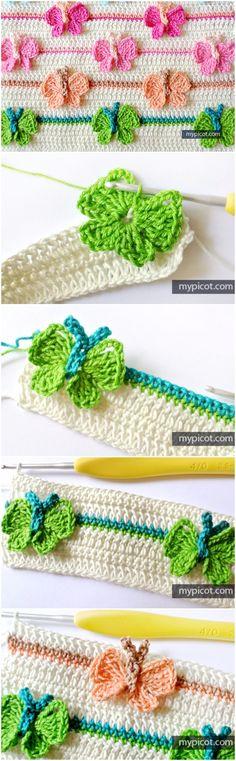 Learn To Crochet Butterfly Stitch