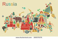 Russian icons in the form of maps of Russia