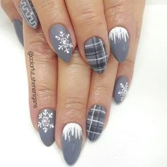 You Don't Need to Stick With Red and Green for Your Winter Manicure You Don't Need to Stick With Red and Green for Your Winter Manicure,Nails and stuff winter nail designs Related. Winter Nail Designs, Winter Nail Art, Christmas Nail Designs, Nail Art Designs, Nails Design, Nail Ideas For Winter, Plaid Nail Designs, Winter Nails 2019, Xmas Nail Art