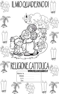 copertina_quaderno di religione_cattolica_classe_terza_2015-2016 Sunday School Crafts, Teacher, Education, Comics, Books, Fictional Characters, Script, Index Cards, Cover Pages