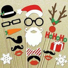 E se no Natal tiver selfie, estes adereços cairão muito bem!!!! Olha q ideia fácil! #decoração #customização #personalização #top #façavocêmesma #felicidade  #natal #artesanato #love #amor #instagram #vintage #dicas #pensepositivo #amomuito #retro #moda #art #inspiration #inspiracao #fofo #alegre #felicidade #decoration #deusnocomando #brasil #bomdia