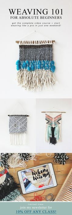 New Wall Tapestry Diy Inspiration Textiles Ideas Weaving Textiles, Weaving Art, Weaving Patterns, Loom Weaving, Stitch Patterns, Knitting Patterns, Tapestry Loom, Wall Tapestry, Weaving Wall Hanging