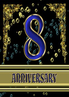 Anniversary Party card with elegant golden highlights card. Personalize any greeting card for no additional cost! Cards are shipped the Next Business Day. 8th Wedding Anniversary, Wedding Anniversary Invitations, Anniversary Quotes, Anniversary Parties, Happy Anniversary, Golden Highlights, Some Cards, 8th Birthday, Elegant