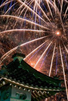 Fireworks in Kinosaki Onsen, Hyogo, Japan | Satoshi Shibune