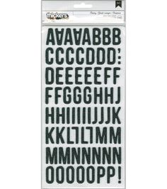 Fresh Squeezed Chipboard Thickers Alphabet Stickers-Pantry/Black, , hi-res