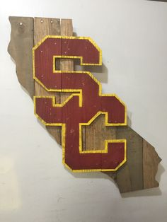 USC Trojans California Sign Wooden wall sign made from reclaimed pallet wood ($79)