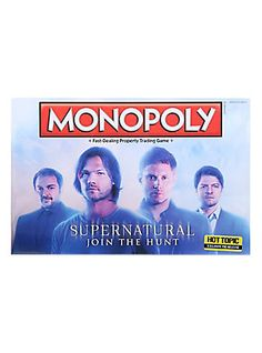 Monopoly Supernatural Board Game Hot Topic Exclusive Pre-Release,