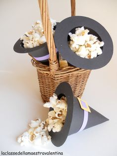 Halloween Party. I got a link somewhere for pink coloured popcorn - maybe I can make these in green or orange?