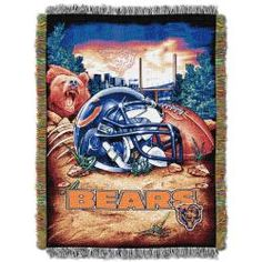 @Overstock - This Chicago Bears Homefield Tapestry Throw features amazing details and graphics of your favorite team. This NFL licensed blanket can be used as a room accent, bed cover, throw blanket or wall hanging.http://www.overstock.com/Sports-Toys/Northwest-Chicago-Bears-Homefield-Tapestry-Throw/5863263/product.html?CID=214117 $24.99