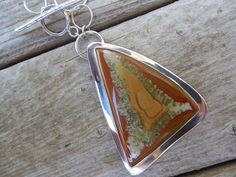 Sterling silver necklace with a Owyhee jasper stone by Billyrebs