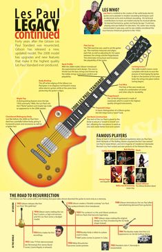 """Here is a a vector illustration of the Gibson 2008 Les Paul guitar model to be the center piece of this information package. This graphic was prompted by the 40th anniversary of the """"resurrection"""" of the Les Paul and Gibson releasing a new version.  http://www.amandamcphersondesign.com/portfolio/info/lespaul.jpg"""