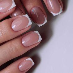Nail Shapes - My Cool Nail Designs French Nails Elegant, Glitter French Nails, French Tip Acrylic Nails, French Tip Nail Designs, French Manicure Nails, Square Acrylic Nails, Oval Nails, Best Acrylic Nails, Square Nails