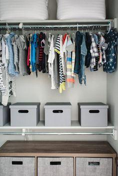 Baby boy closet organization