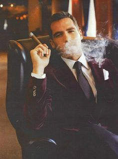 Mr M - Velvet Smoking Jacket & Finest Cigars France Offers The Distinguished Gentleman Smoking Jacket, Man Smoking, Cigar Smoking, Smoking Pipes, Der Gentleman, Gentleman Style, Sharp Dressed Man, Well Dressed Men, Moda Formal